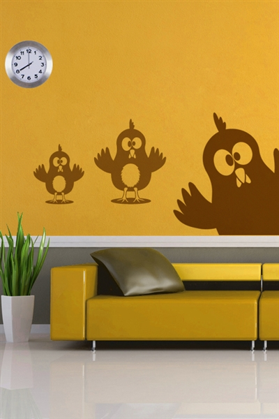 Wall Decals  - Silly Chickens