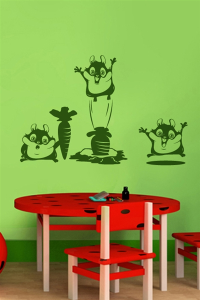 Wall Decals  - Funny Rodents