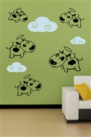 Wall Decals  - Flying Cows