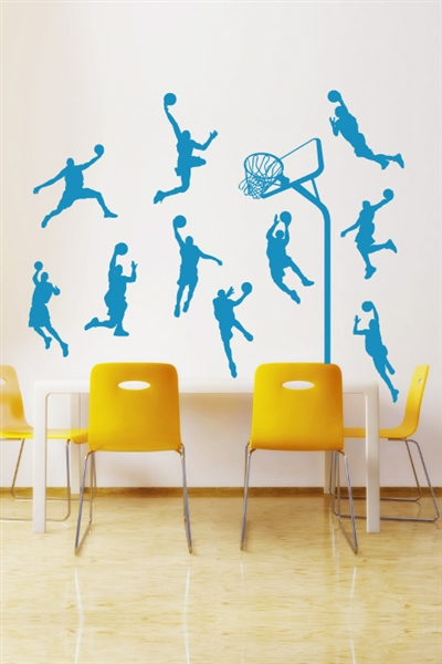 Wall Decals  Basketball Players