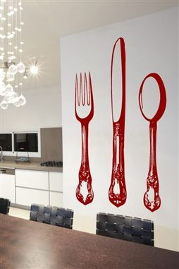 Wall Decals  - Silverware