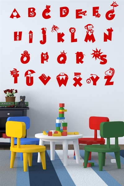 Alphabet Kids Wall Decals