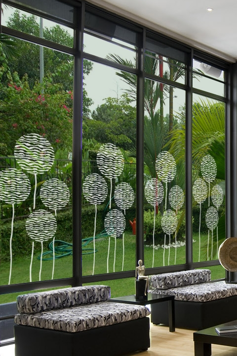 Balloons 1 glass decals