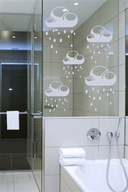 Rain Clouds  - Glass Decals