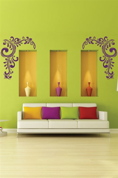 Wall Decals  Upward Flower Left