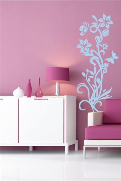 Wall Decals  Upward Flower Right
