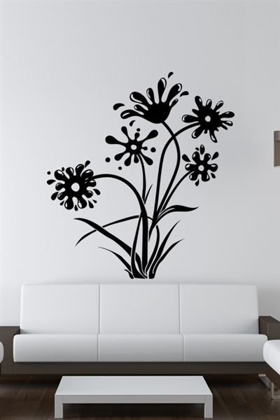 Wall Decals  Ink and Flowers