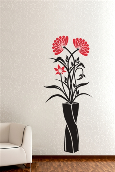 Wall Decals  Vase of Wildflowers