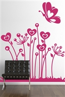 Wall Decal  Lovely Flowers 2