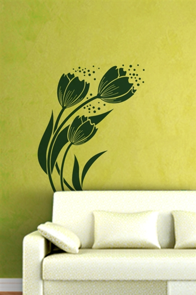 Wall Decals  Lovely Flowers 3
