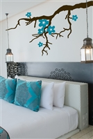 Tree Branch & Blossoms Custom Color Wall Decal, modern zen spa LG - 6 Sizes | WallTat.com