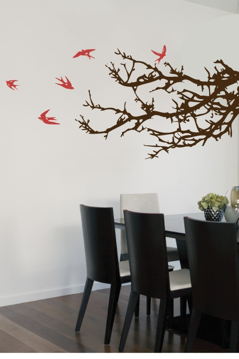 wall decals branches and birds- walltat art without boundaries