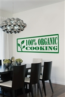 Wall Decals Organic Cooking