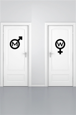 Wall Decals Bathroom Sign