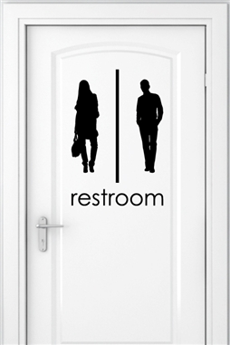 Wall Decals Bathroom Signs