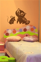 Cat and Mouse Wall Decals