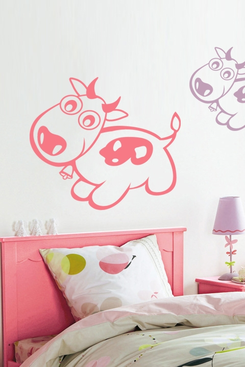 Pink Cow Wall Decals Part 93