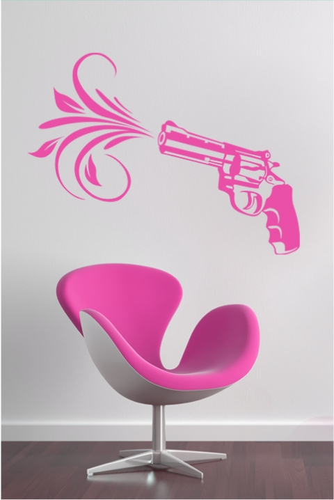 Pink Wall Decals pink pistol wall decals, wall stickers art without boundaries