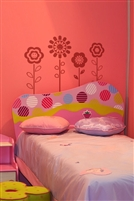 Happy Face Flowers Wall Decals