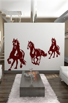 Wall Decals Running Horses