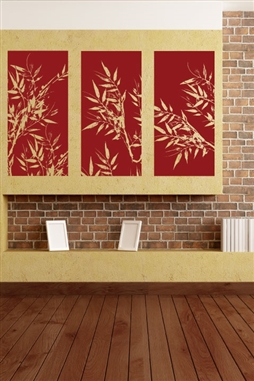 Wall Decals Bamboo Panels