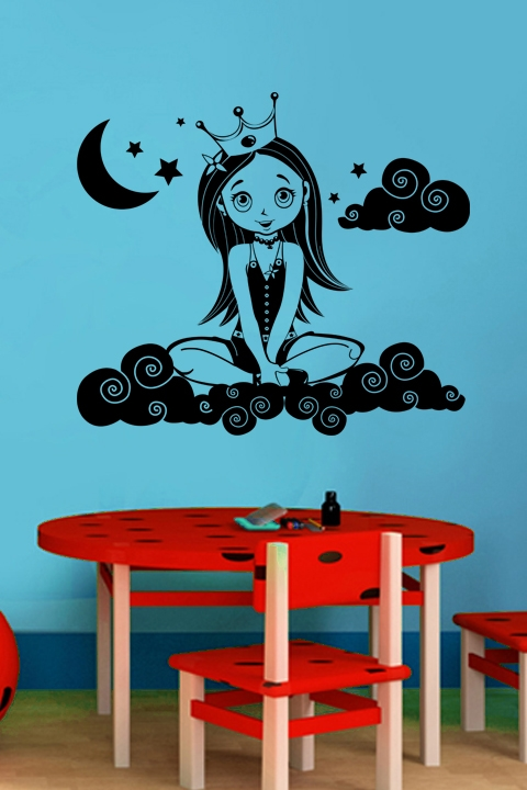 Charmant Cloud Princess Wall Decals