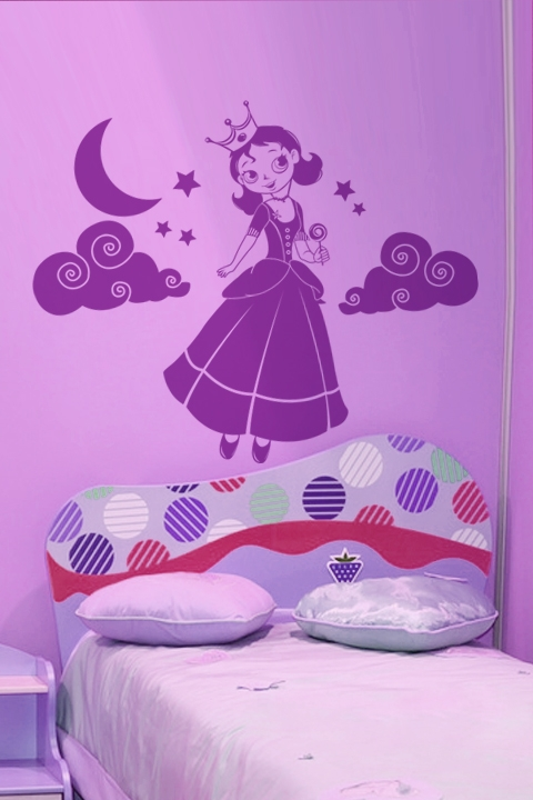 Incroyable Lollipop Princess Wall Decals