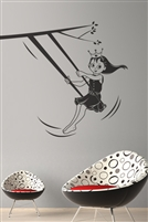 Princess on a Swing Wall Decals
