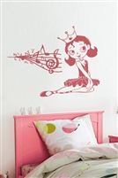 Princess Tunes Wall Decals