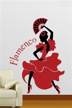 Flamenco Dancer Wall Decals