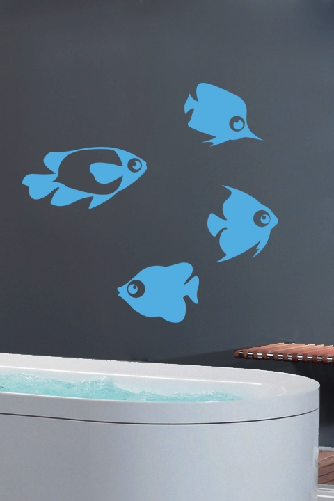 Fish Sky Blue Wall Decals & Fish Sky Blue Wall Decals Wall Stickers Art Without Boundaries ...
