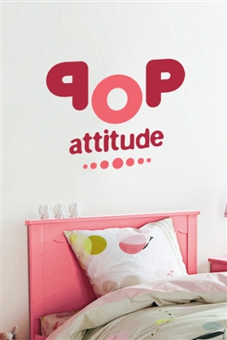 Pop Attitude Girl Wall Decals