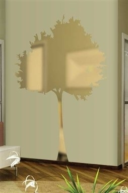 Wall Decals Reflective Skinny Tree ...