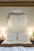 Wall Decals Sunburst Round Modern Mirror