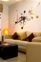 Wall Decals  Reflective Liquid Abstract