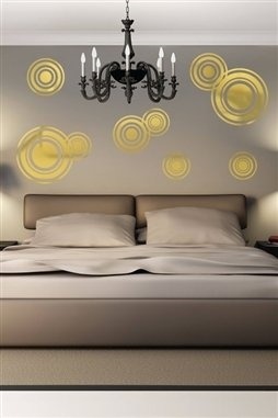 Wall Decals  Reflective Scattered Bubbles