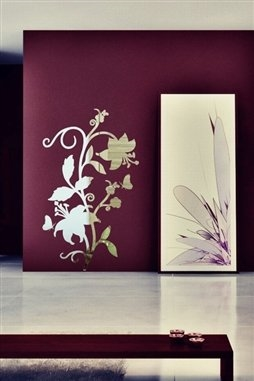Wall Decals  Reflective Baroque Flower