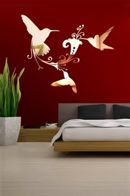 Wall Decals  Reflective Hummingbirds