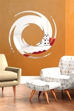 Wall Decals  Pop Up Mirror -Reflective Decals