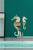 Wall Decals  Seahorse Mirror -Reflective Decals