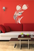 Wall Decals  Reflective Lovely Flowers 3