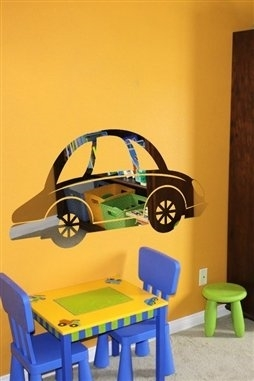 Wall Decals  Kids Car Mirror -Reflective Decals