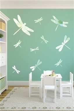 Wall Decals  Dragonfly Mirror -Reflective Decals
