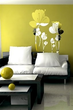 Wall Decals  Reflective Lovely Flowers 1