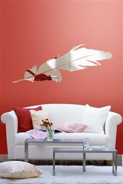 Wall Decals  Reflective Feather