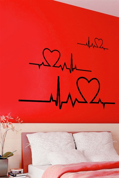 Wall Decals  Heart Line