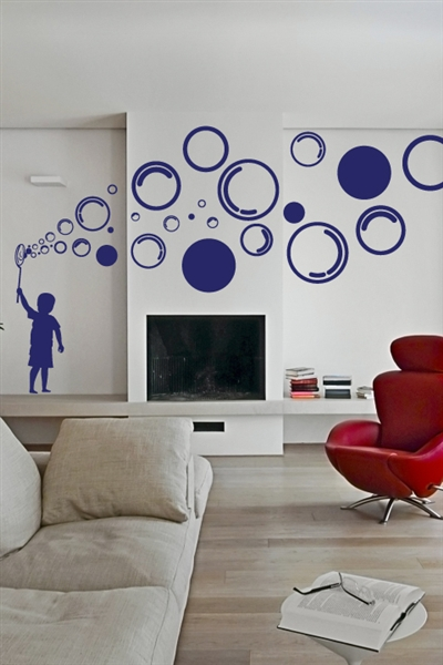 Wall Decals  Bubble Boy