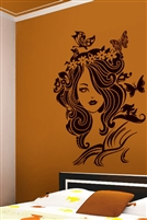 Wall Decals  Lady Butterfly