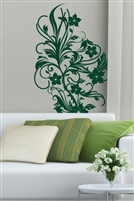 Bohemian Jungle Vine Wall Decal. Create a Bohemian jungalow with a flowering vine wall mural. 32 colors for a bedroom, dorm, living room, yoga studio, nursery, girl's bedroom, or salon. Walltat.com