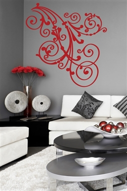 Wall Decals flower scroll ornament filigree graphic